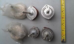5ll96 Assorted Rotary Switches 2 New In Pouch 4 Used Very Good Condition