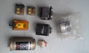 5ll88 Assorted Relays 8 Pcs 1 New In Pouch Good Condition