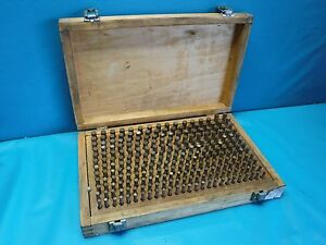 Used Hdt Minus Pin Gauge Set Model H 2 With Wooden Case