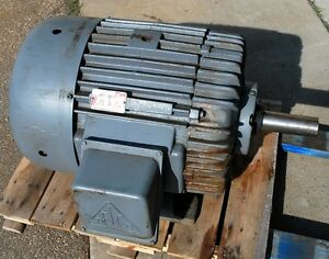 Delco 1g7404 Three Phase Motor 20 hp 1200 rpm 404u frame Used