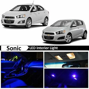 8x Blue Interior Led Light Package Kit For 2012 2015 Chevy Sonic