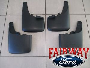 11 Thru 16 Super Duty F250 F350 Oem Ford Splash Guard Mud Flaps W Lips 4pc Set