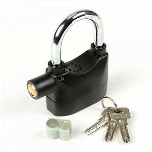 2pc High Security Short Shackle Padlock W Anti Theft 110db Siren Alarm