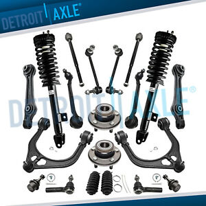 20pc Complete 2 Front Strut 6 Control Arm Ball Joint 2 Wheel Bearing 10 Sus Rwd