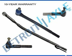 New 4pc Front Suspension Tie Rod Set Ford Excursion F 250 F 350 2wd Drag Link