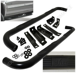 07 2015 Chevy Silverado Sierra Truck Extended Cab Side Step Nerf Board Bar Black