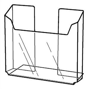 Lot Of 6 Clear Acrylic Counter Top Brochure Holder 7 Literature