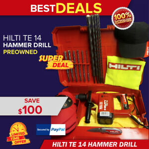 Hilti Te 14 Hammer Drill Made In Germany Free Drill Bits More Fast Shipping