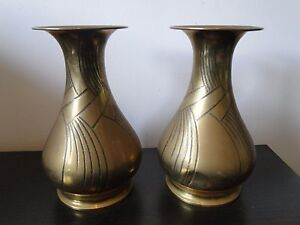 Wmf Brass Vase Art Deco Styled Metal Ware 1920 German Marked Nice Shape