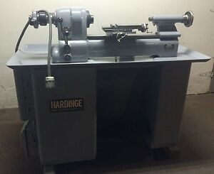 Hardinge Model Dv 59 Lathe With 6 Station Model L Turret Buck Chuck