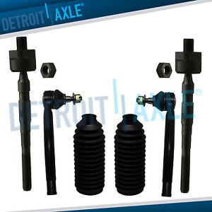 6pc Front Inner Outer Tie Rod Rack Boots For 2007 2008 2009 2012 Nissan Altima