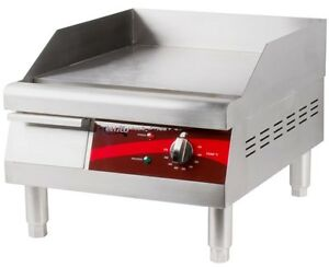 Countertop Electric Griddle 16 Inch Restaurant Kitchen Commercial Flat Top Grill