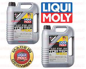 10 Liters Engine Motor Oil Top Tec 4100 5w40 Liqui Moly Fully Synthetic 2330