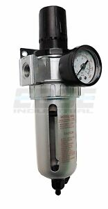 1 2 Combo Air Pressure Regulator Water Trap Particulate Filter For Compressor