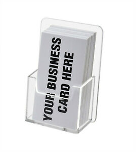 Wall Mounted Vertical Business Card Holder Gift Card Display Lot Of 12