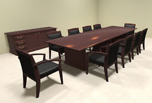 Wood Traditional Rectangular 12 Feet Conference Table of tra c4