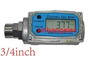3 4 Automatic Turbine Digital Diesel Oval Gear Fuel Flow Meter L Gal pts qts