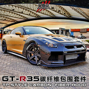 2009 2016 R35 Gtr Tp Full Wide Body Bumper Fenders Sideskirts Kit Fit Nissan