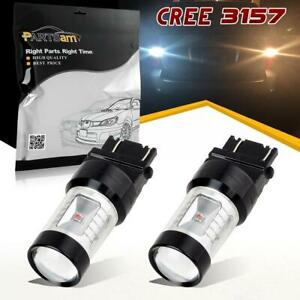 2x 3157 Dual Color Switchback Led White Amber Front Turn Signal Light Bulbs Lamp