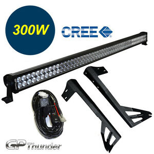 52inch Off Road 300w Cree Led Light Bar Mounting Bracket Jeep Jk Wrangler 07 18