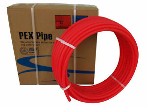 1 X 100ft Red Pex Tubing pipe Pex b 1 inch 100 Ft Potable Water Nonbarrier