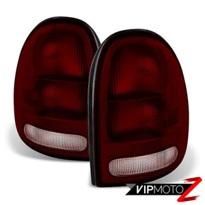 1996 2000 Chrysler Town Country Dodge Caravan Rear Tail Lights Red Smoke Pair