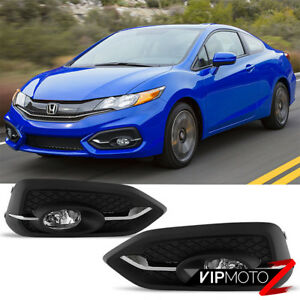 2014 2015 Honda Civic 2d Coupe Fg hfp Style Front Foglights Bulb Wiring Switch