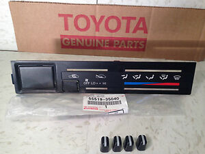 1990 95 Toyota 4runner Heater Control Panel W Knobs Climate A C Faceplate