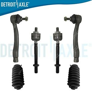 6pc Front Inner Outer Tierod Boot Kit For 1996 1997 1998 1999 2000 Honda Civic