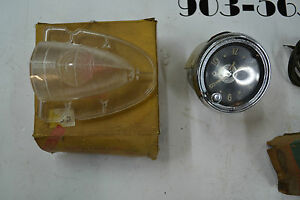 1951 54 Chevrolet And Others Glove Box Light Clock And Backup Light Lense