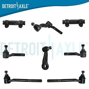 8pc Idler Pitman Arm Inner Outer Tie Rod For Blazer Bravada Jimmy S10 Sonoma 4x4