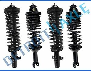 1990 1993 For Honda Accord All 4 New Front Rear Strut Coil Spring