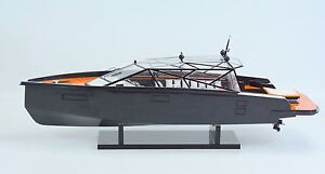 Wally Power Concept Design Luxury Yacht 28 Handmade Wooden Boat Model