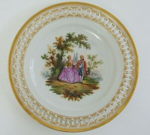 19th Century Meissen Porcelain Reticulated Plate