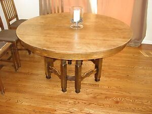 Stickley Brothers Oak Mission Dining Set Grand Rapids Michigan Circa 1920s
