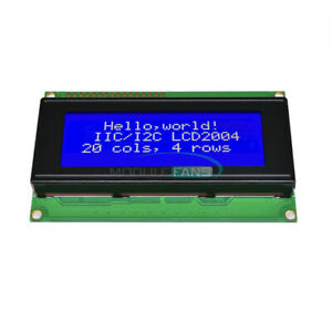 204 2004 20x4 Character Lcd Display Module For Arduino Blue Blacklight