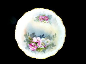Limoges Ldbc 12 Hand Painted Rose Plate Charger Circa 1890 S