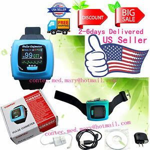 Us Seller contec Fda Digital Color Wrist Fingertip Pulse Oximeter spo2 Pr usb Sw