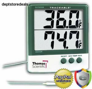 Thomas Traceable Big digit Thermometer 58 To 158 Degree F 50 To 70 Degree C