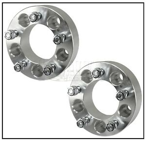 Set Of 2 Wheel Spacers 1 25 Thick Adapters 5x4 75 For Chevy Camaro Corvette S10