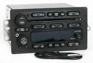 03 05 Chevy Gmc Truck Am Fm 6 Disc Cd Radio W Aux Input On Face
