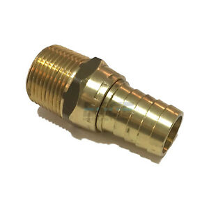 3 4 Swivel Hose Barb X 3 4 Male Npt Brass Pipe Fitting Npt Gas Fuel Water Air