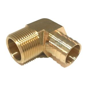 1 Hose Barb Elbow X 1 Male Npt Brass Pipe Fitting Thread Gas Fuel Water Air