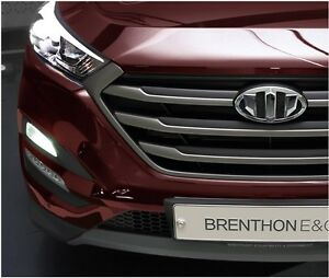 Brenthon Front Grill Rear Trunk Emblem Badge For 2016 Hyundai Tucson 2pc