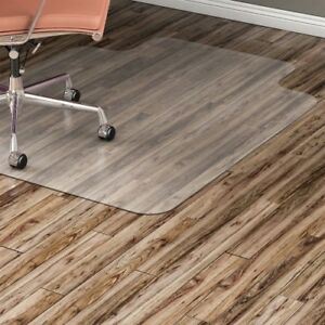 Hard Floor Chairmat Wide Lip 45 x53 Lip Clear Llr82826