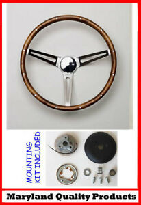 1969 1989 Cadillac Grant Wood Steering Wheel 15 Walnut With Cadillac Horn Cap