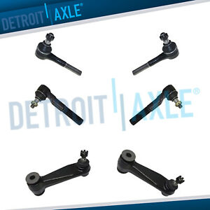 Inner Outer Tierod Pitman Arm Kit 2001 2002 2003 Dodge Ram Van 1500 2500 3500