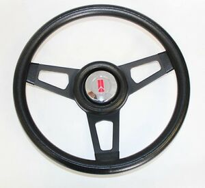 1967 Olds Cutlass 442 Delta Grant Black Steering Wheel With Black Spokes 13 3 4