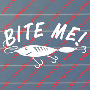 Bite Me Decal Fishing Sticker