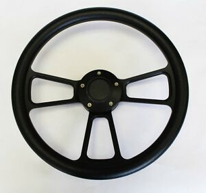 1964 65 66 Buick Skylark Gran Sport Black On Black Spokes Steering Wheel 14